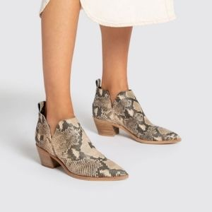 Dolce Vita Sonni Snake Print Leather Booties